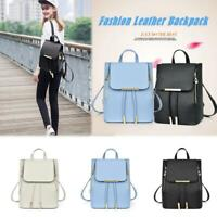 Women Girls Handbag Leather Backpack Shoulder School Bag Travel Casual Rucksack