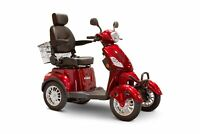 New EWheels EW-46 Bariatric 4-Wheel Long Range Electric Mobility Red Scooters