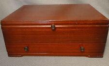 1847 Rogers Flatware Silverware Cherry Wooden Storage Box