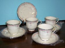 4 SETS LENOX EMILY DEBUT COLLECTION CUPS AND SAUCERS NEVER USED FREE US SHIPPING