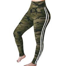 Fashion Women's Slim Camo Trousers Sports Hight Elastic Waist Pencil Pants LOVE