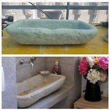 Lavabo lavandino lavello vasca cemento e marmo pietra rustica moderno  lavamani