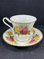 Paragon England Fine Bone China TeaCup & Saucer Set Cabbage Roses By Appointment