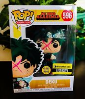 MINT My Hero Academia Deku Glow In Dark GITD Anime 596 EE Exclusive Funko Pop