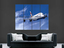 AIRBUS A380 AEROPLANE POSTER JET BA SKY FLYING ART WALL LARGE GIANT