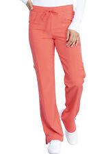 Dickies Scrubs Mid Rise Straight Leg Drawstring Pant Dk010 Papc Papaya Punch