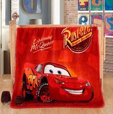 Pixar Cars Lightning McQueen Plush Silky Flannel Blanket Throw Bedding 100x140cm