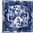 ARTCANVAS Purple Princess Cut Diamond Jewel Canvas Art Print