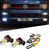 For VW T6 Led Fog Light Bulbs & Resistors Canbus Error Free Brand New