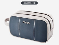 PING 2021 Premium Golf 2-Zippered Pouch Bag Pocket Chacoal Color Accessory_UK