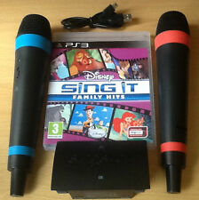 Singstar Disney Sing It Family Hits ( PS3 )Wireless Mics bundle Children  party