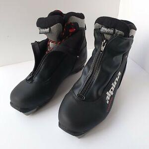 Alpina T5 Plus Cross Country Ski Black Boots Size 39