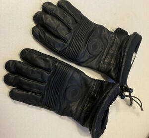 Harley Davidson Black Leather Motorcycle Riding BIKER Gloves Gore-TEX Mens Sz L