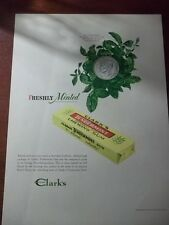 1946 VINTAGE AD FOR CLARK'S TENDERMINT CHEWING GUM 10X13 ONE SHILLING MINTED