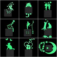 Glow in the Dark Wall Sticker Cartoon Luminous Switch Decal Home Decor Stickers