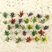 100pcs Flowering Plants 5 Colours Landscape Railroad Layouts Scenery Scale 1:100