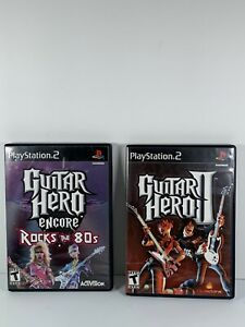 Lot Of 2 Playstation 2 Games Guitar Hero 2 And Guitar Hero Encore Rocks The 80s