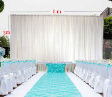 3*6M transparent white ice silk wedding backdrop curtain dapery decoration