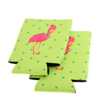 1 paio Flamingo Stubby Beer Bottle Tin Can Cooler Sleeve Bomboniera per