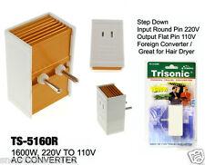 1600 w 220V to 110V foreign travel voltage converter international