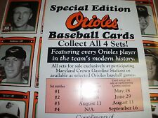 1991 Crown/Coke Orioles THE COMPLETE SET (SERIES I THRU 4,ALL 501 CARDS)