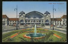 Switzerland BASEL Railway station 1937 PPC
