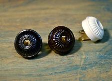 Vintage Style Electrical Plug Ribbed Design, Bakelite Replica antique fan rewire