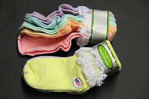 5 PAIRS OF PASTEL LACE ANKLE BOBBIE AND CASUAL SOCKS GIRLS 6-8  CREW PINK PURPLE