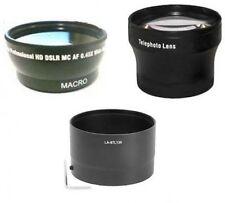 Wide Lens + Tele Lens + Tube Adapter bundle for Nikon CoolPix L120 L310
