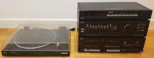 Akai PRO-A200D Hifi Stereo System - Twin Cassette AM-FM Radio - No Speakers