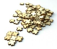 200 Pieces TINY 0.5in Unfinished Wooden Jigsaw Puzzle DIY Blank crafting wood