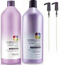 PUREOLOGY HYDRATE SHEER SHAMPOO 1 LITRE AND CONDITIONER 1 LITRE DUO WITH PUMPS