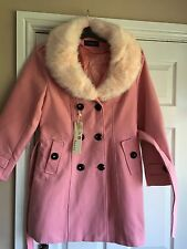 Fashion Classics femme rose manteau avec fourrure synthétique col bordure taille XXL