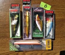 (5) fishing lures Rapala Bagley Cordell Shad Rap Husky Jerk Count Down Bang O B