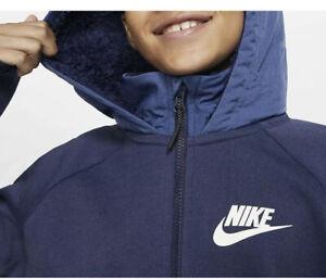 Nike Winterized Tech Fleece Older Kids Full-Zip Hoodie Jacket BV4446-410 Size M