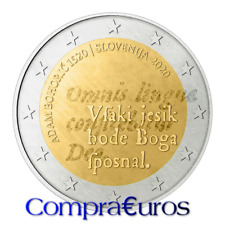 2 Euros Conmemorativos ESLOVENIA 2020 *Adam Bohoric* Sin Circular