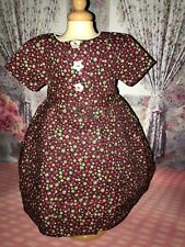 """CARPATINA Vintage Style Dress for18"""" american girl dolls~victorian~colonial~Addy"""