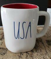 """Brand New RAE DUNN Artisan Collection Magenta """"USA"""" Coffee Cup/Tea Mug/Cup"""
