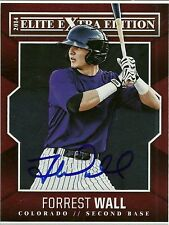 2014 Panini Elite FORREST WALL Signed Card rockies auto rc