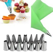 16 Pcs Icing Piping Nozzles Pastry Tips Cake Sugarcraft Decorating Bakery Tools