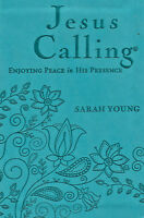 NEW Jesus Calling Sarah Young Teal Leatherflex 365 Devotional Day Deluxe Edition