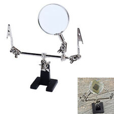 5X Third Hand Soldering Iron Stand Help Clamp Vise Clip Magnifying Glass To_ws
