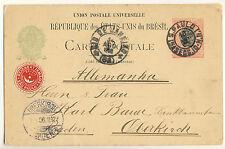 Reichert Irmaos SAO PAULO Brazil Ganzsache Postkarte 1906 Postal Stationary