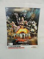 Contra Rogue Corps Nintendo SONY RARE GAME STOP PROMO POSTER DISPLAY