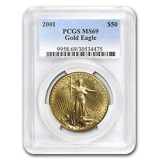 2001 1 oz Gold American Eagle MS-69 PCGS - SKU #11488