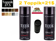 2 Toppik = 17.99$ Fast Free Shipping - 4 COLORS Hair Building Fiber 27.5g/0.97oz