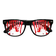 Gafas de lente de Halloween Negro Sangriento Zombie