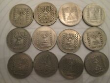 SET of 12 coins! Vintage ISRAELI coins: 1/2 LIRA denomination: LOVELY     IS12
