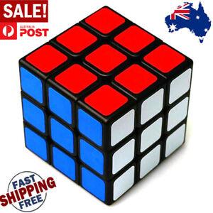 Carbon Fiber Speed Cube 3x3x3 Rubix Puzzle Magic ABS Stickers Twist Kids Toys