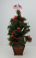 Decorated Tree w/ Candles Perfect Size for Accessory to Byers Choice Displays